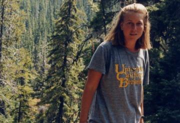 Cheryl Strayed durante il suo viaggio